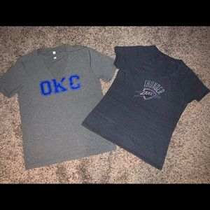 Tops - OKC THUNDER Shirt Bundle. Sz Large